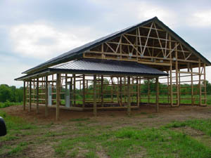 Pole barn structure