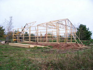 Storage shed frame structure